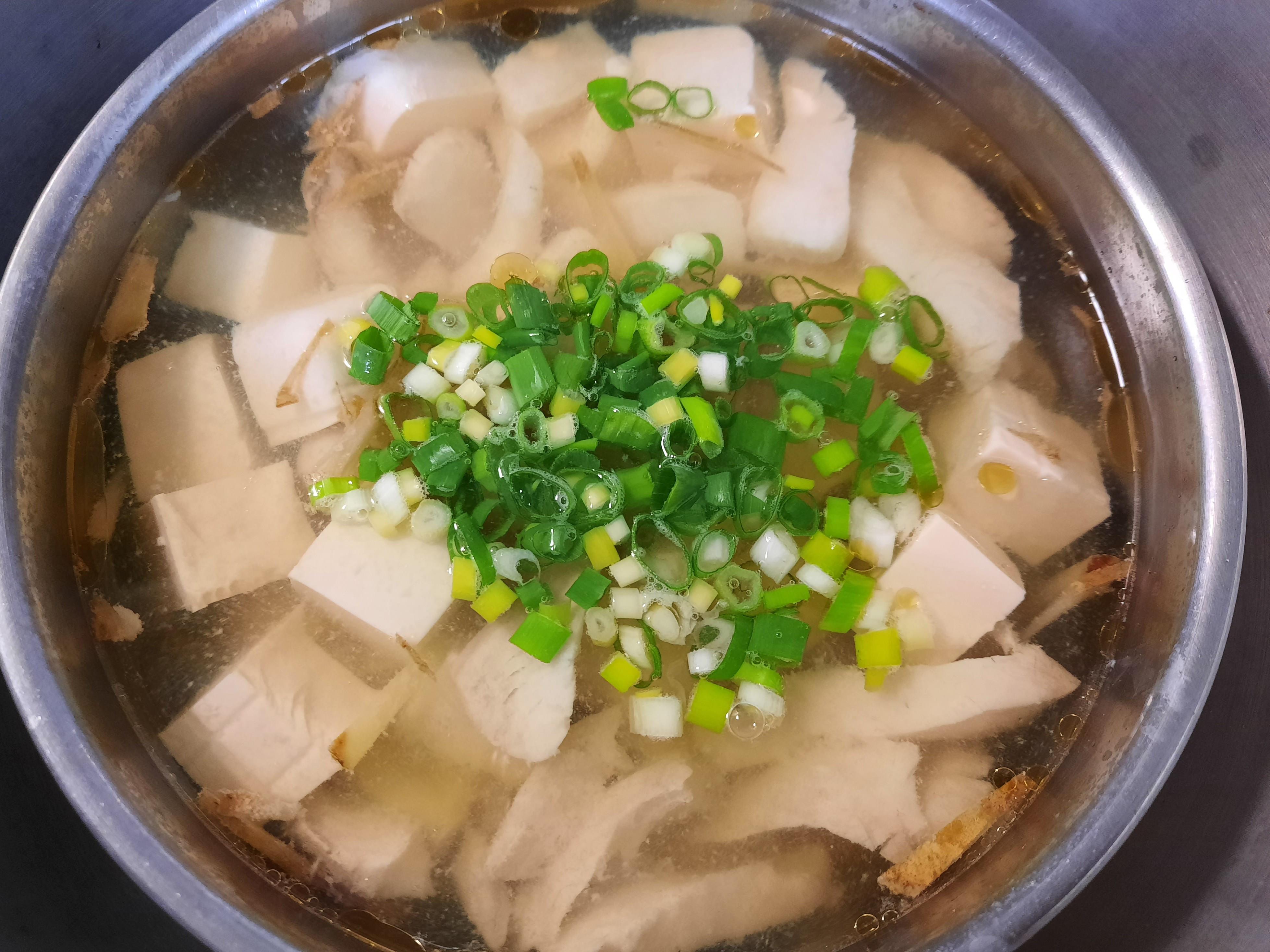 薑絲豆腐魚片湯(電鍋料理)