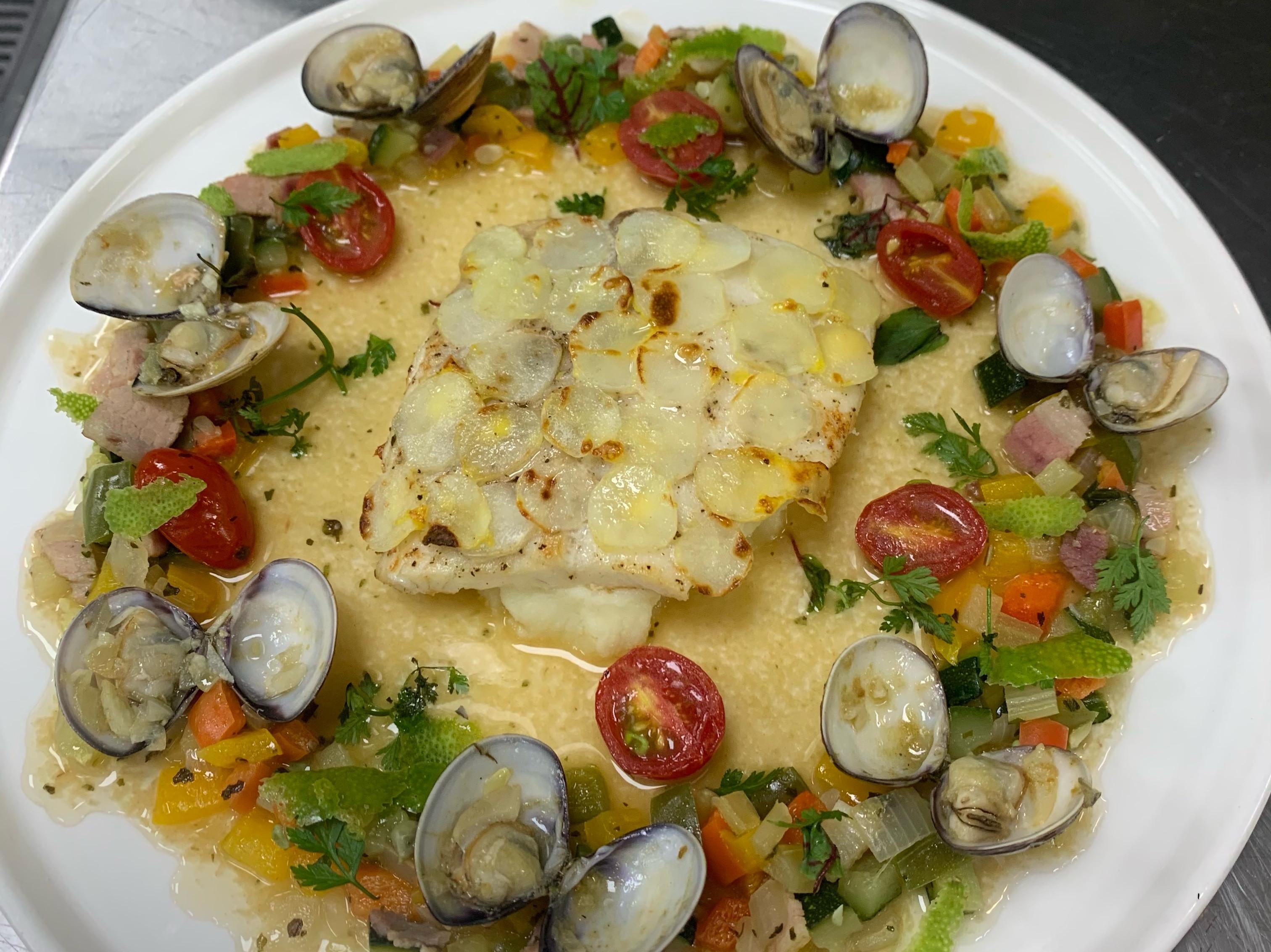 法式薯泥釀鯛魚