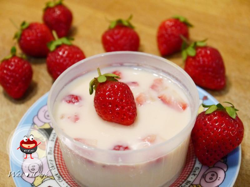 """宛の烘培好""""食""""光 ✿ 噗啾草莓牛奶煉乳布丁"""
