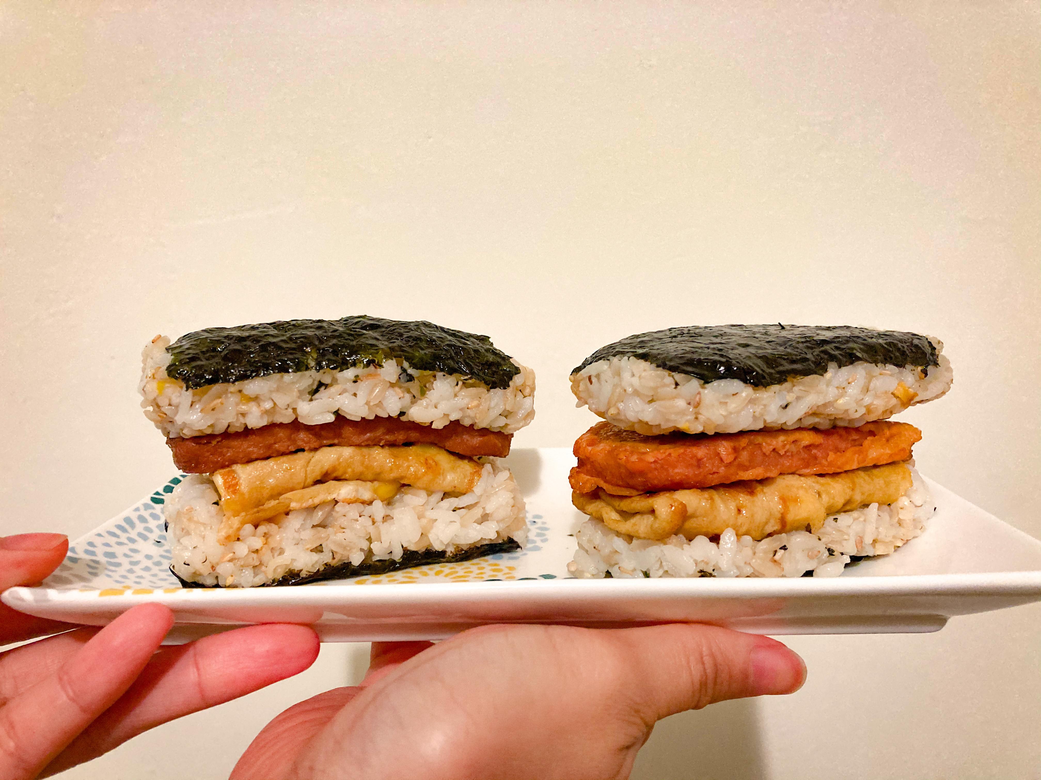 日式餐肉飯糰