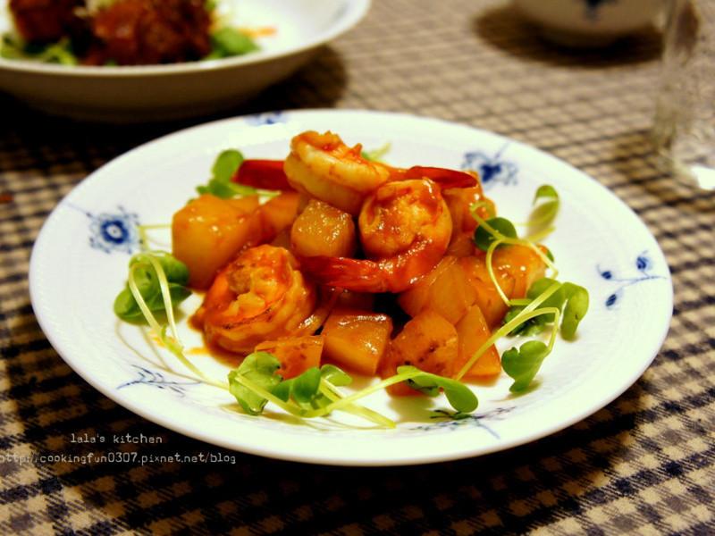 蝦炒白蘿蔔