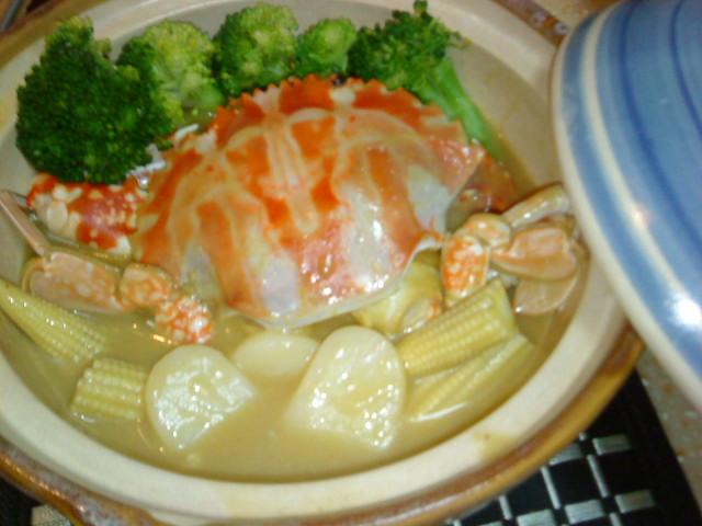 [穀盛綠咖哩]螃蟹年糕煲[小心上癮]