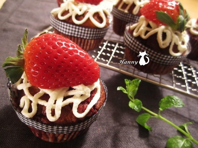 ♥開動with Kat♥草莓瑪芬_原味&巧克力
