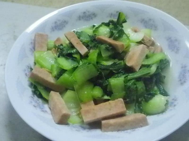 素火腿青江菜