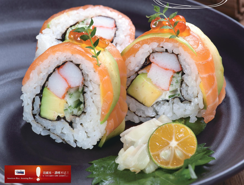 美式鮭魚加州卷