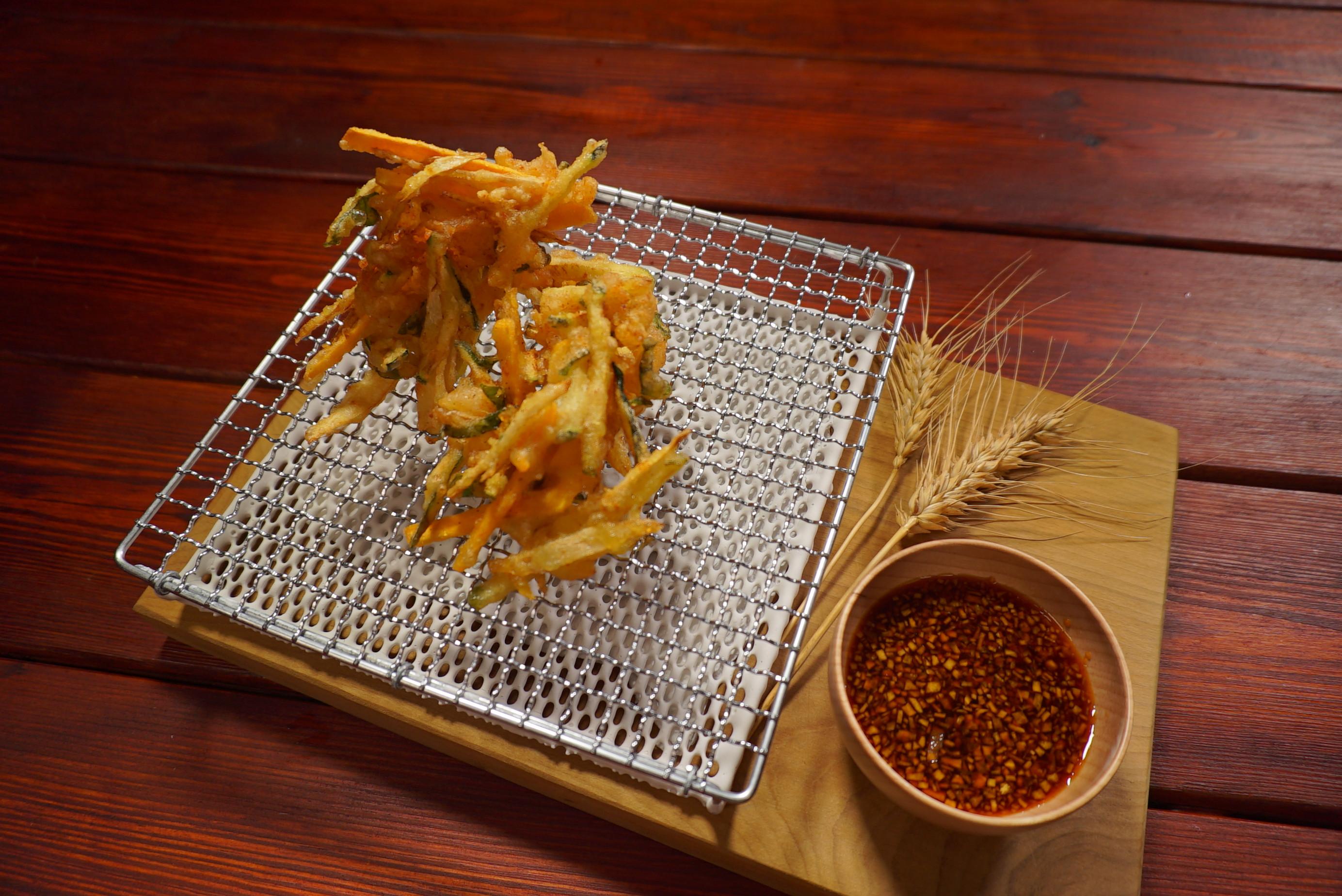 野菜鮮蝦天婦羅-豆油伯甘田醬油