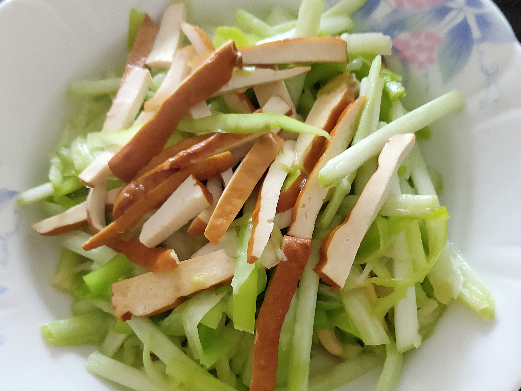 韭黃炒豆乾