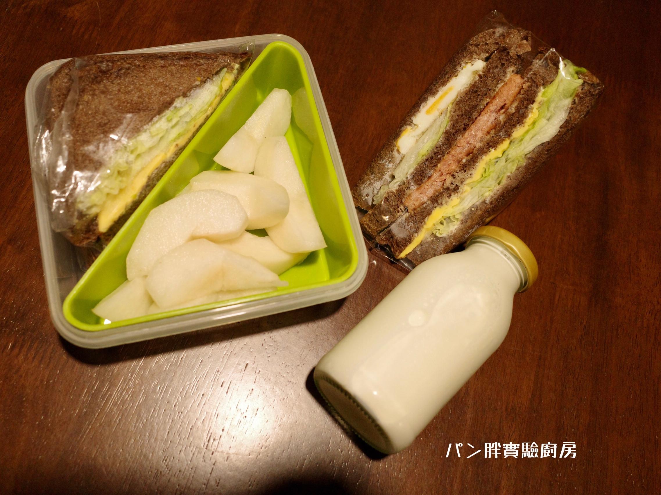 新餐肉營養三明治~素食環保料理