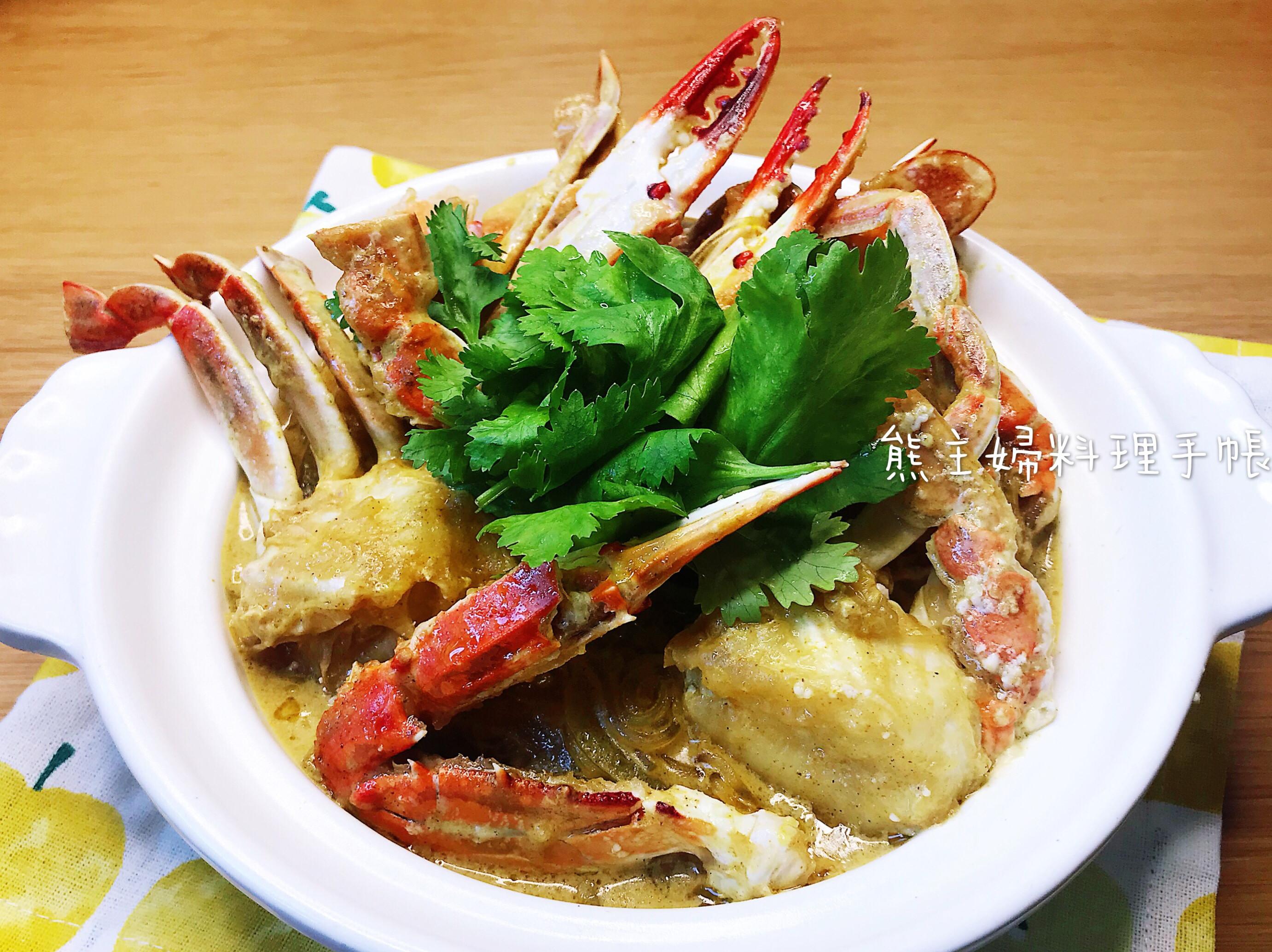 椰汁咖哩粉絲蟹煲