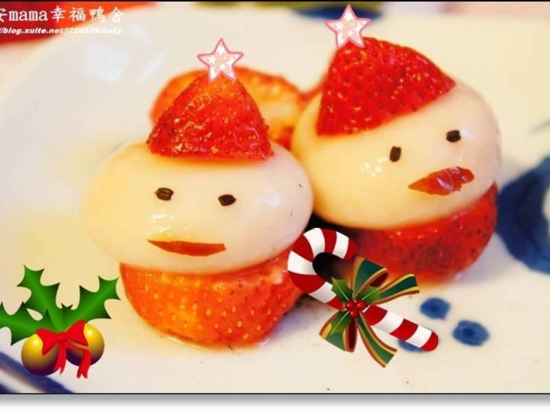 圓滾滾的聖誕老公公湯圓