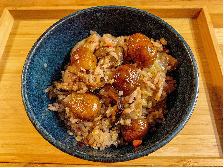 🌰 栗子麻油雞腿炊飯 🌰