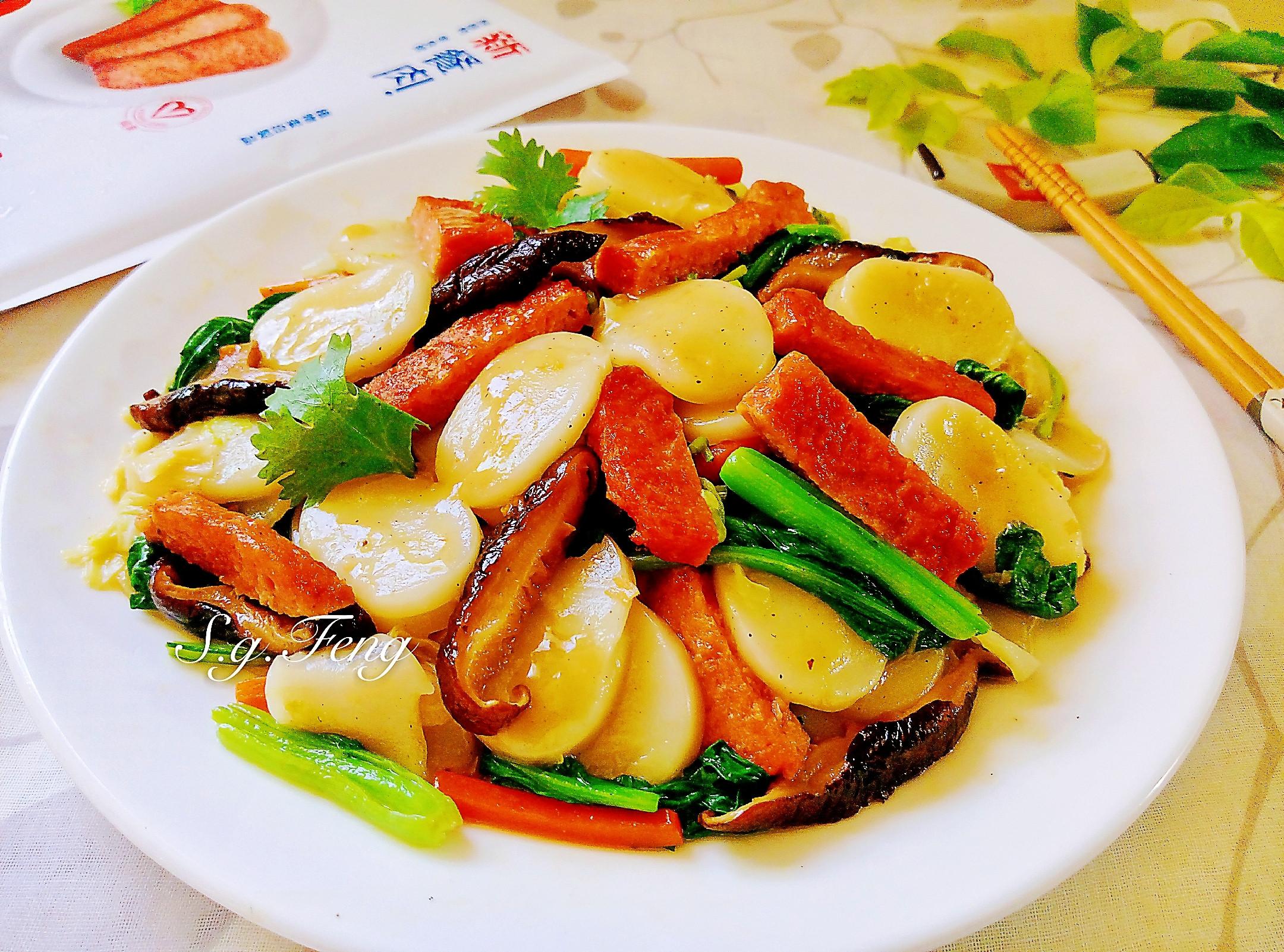 新餐肉炒寧波年糕