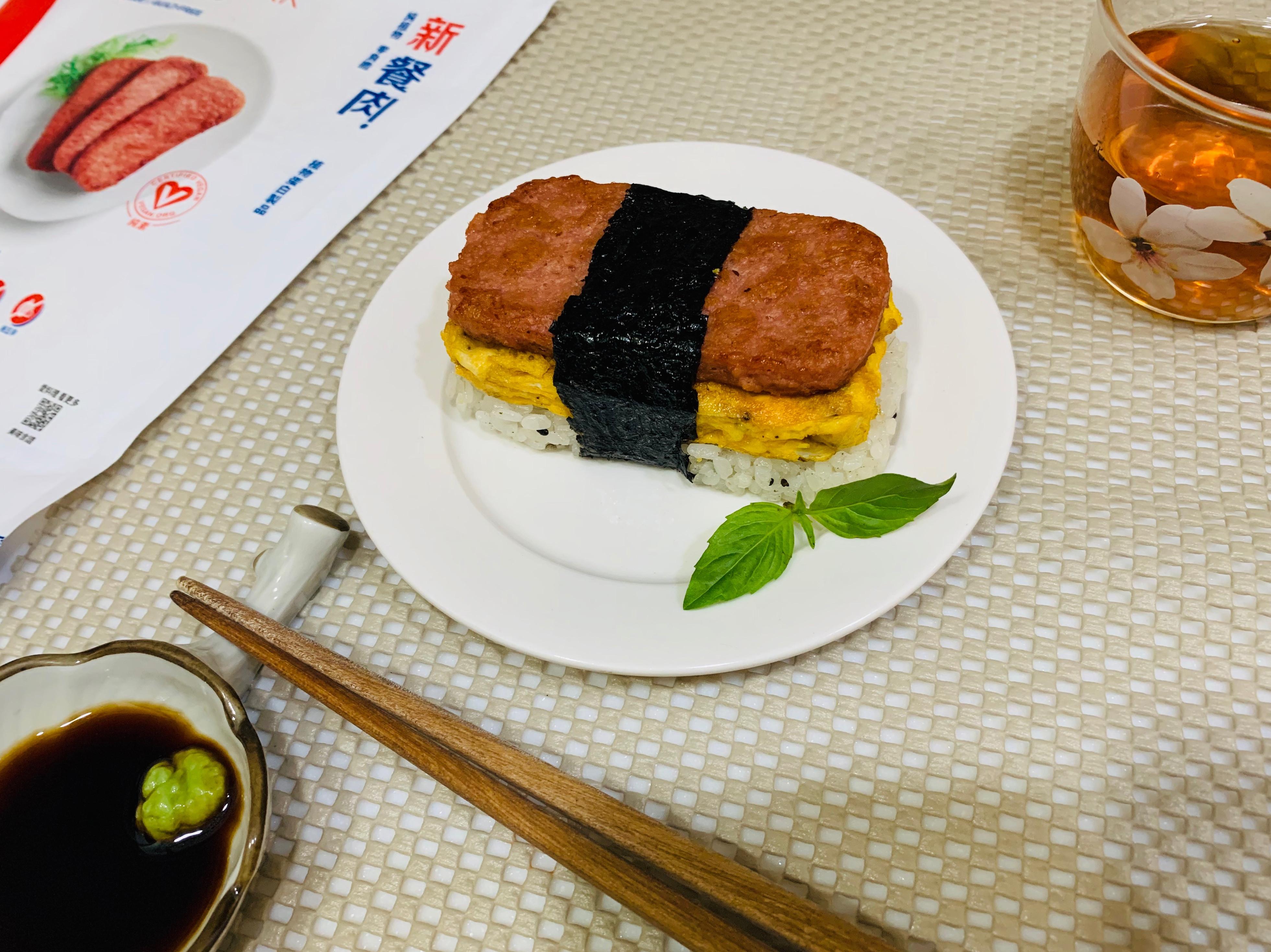 經典新餐肉握壽司-奶蛋素