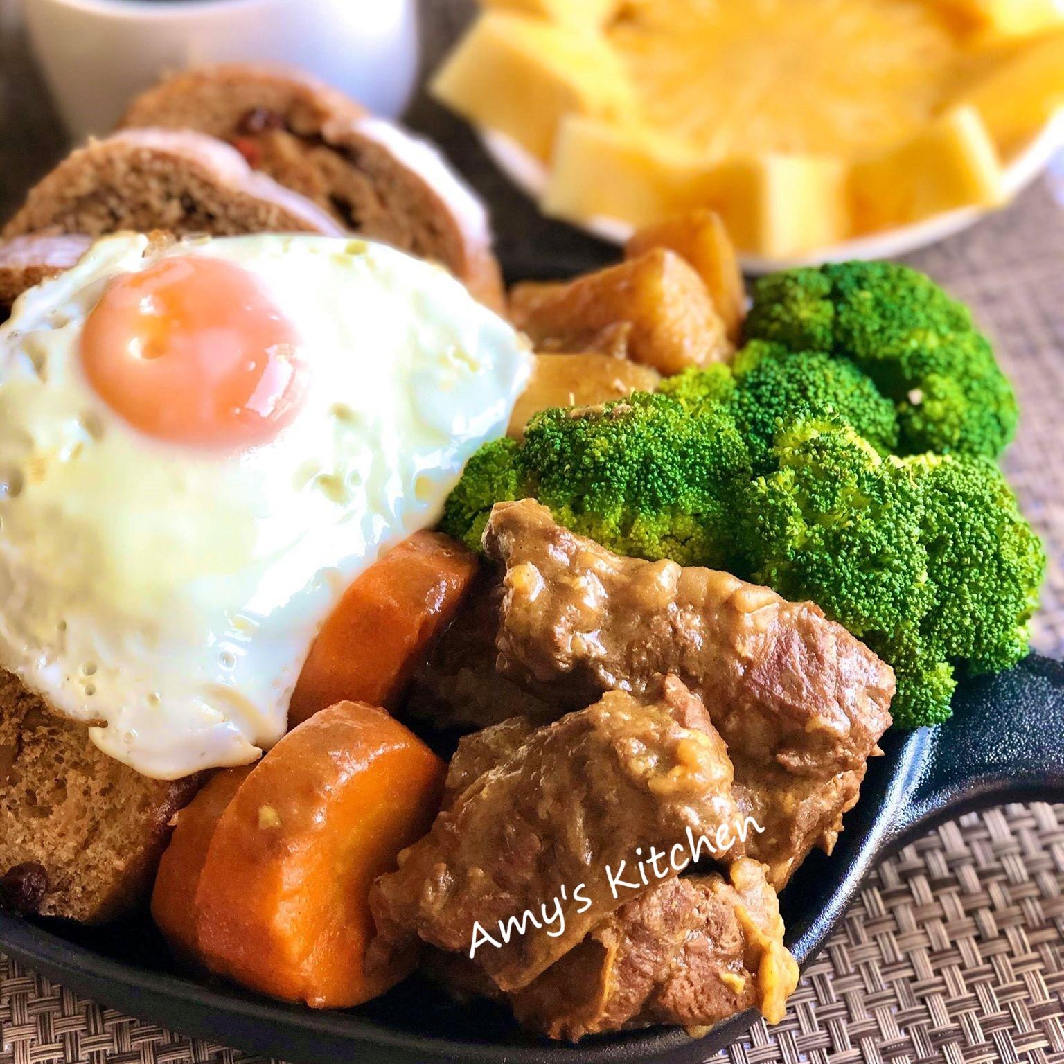 早午餐-咖哩沾麵包