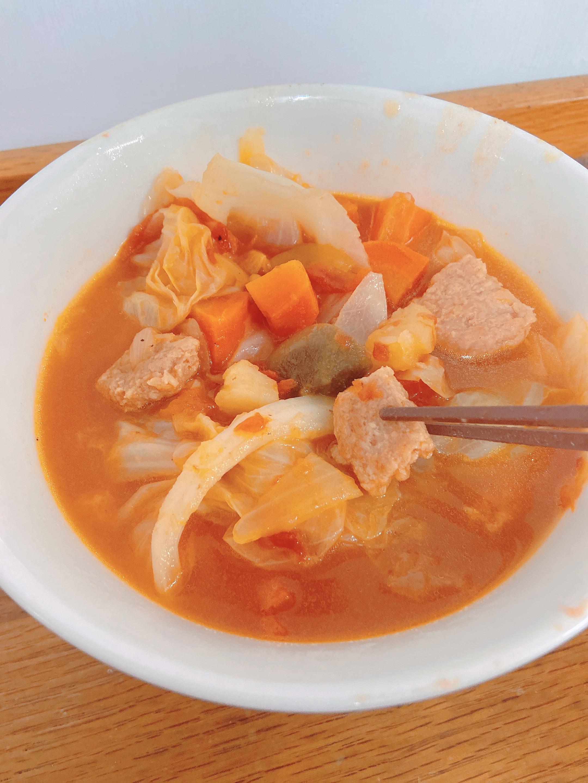 零失手!!手殘也能完成的鮮蔬餐肉湯!!