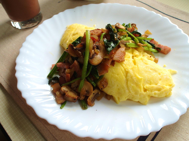 【早午餐】培根波菜歐姆蛋(15分鐘上菜)