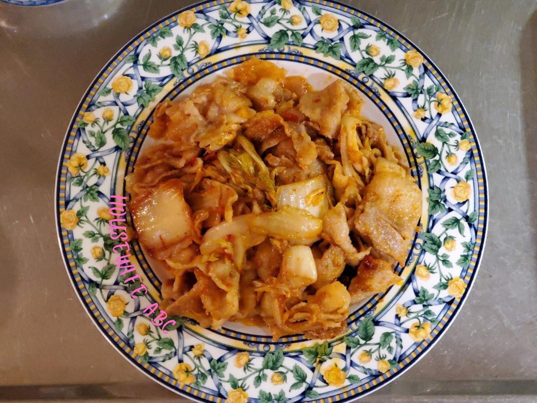 印尼泡菜炒豬肉(25分鐘上桌)