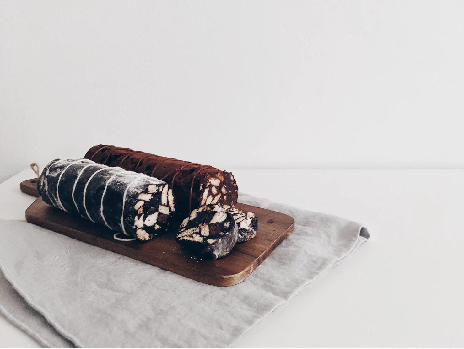免烤箱!義大利甜點:巧克力臘腸