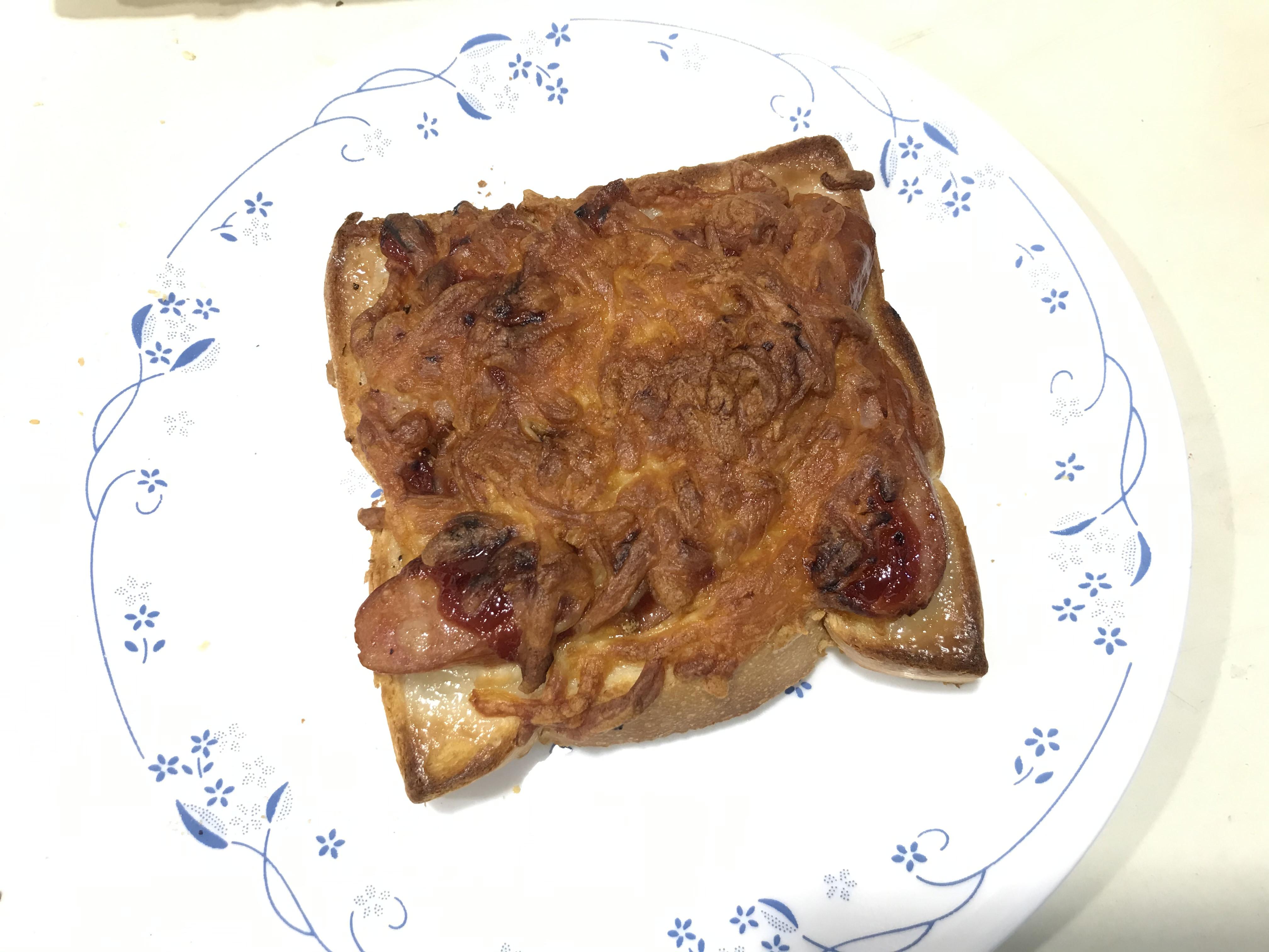 氣炸鍋焗烤吐司披薩