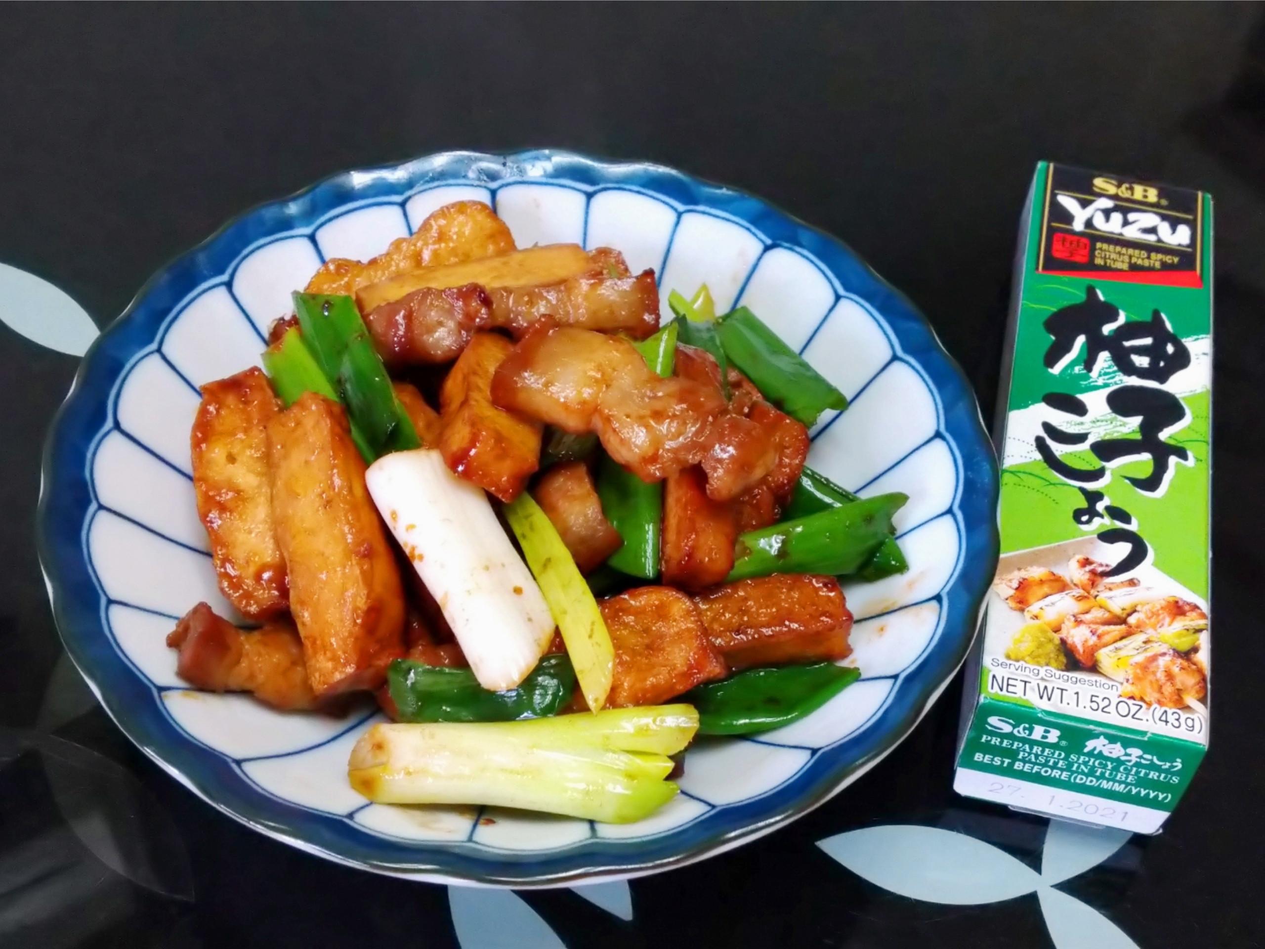 柚香五花肉炒豆干