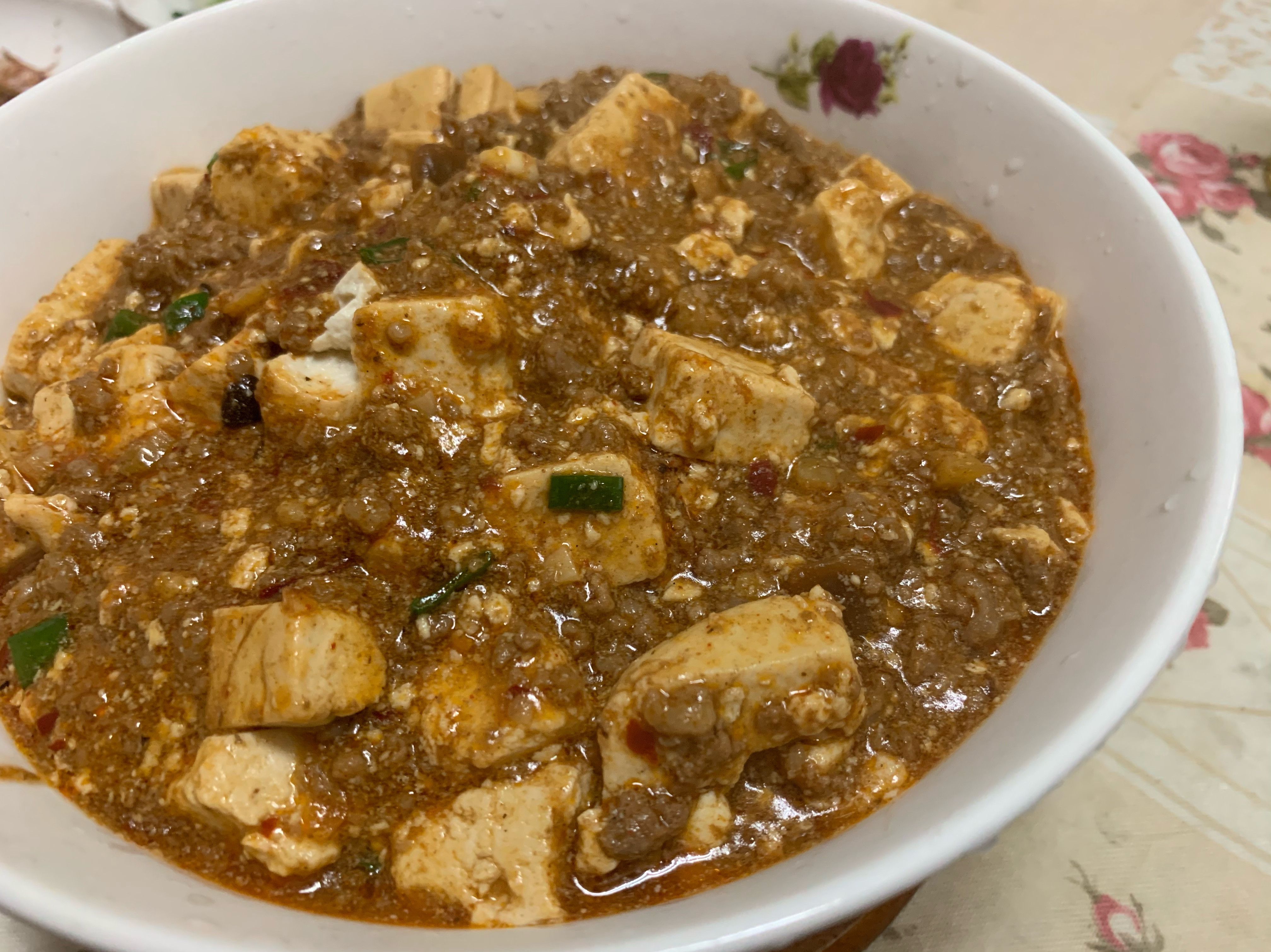 川味麻婆豆腐(牛絞肉版)