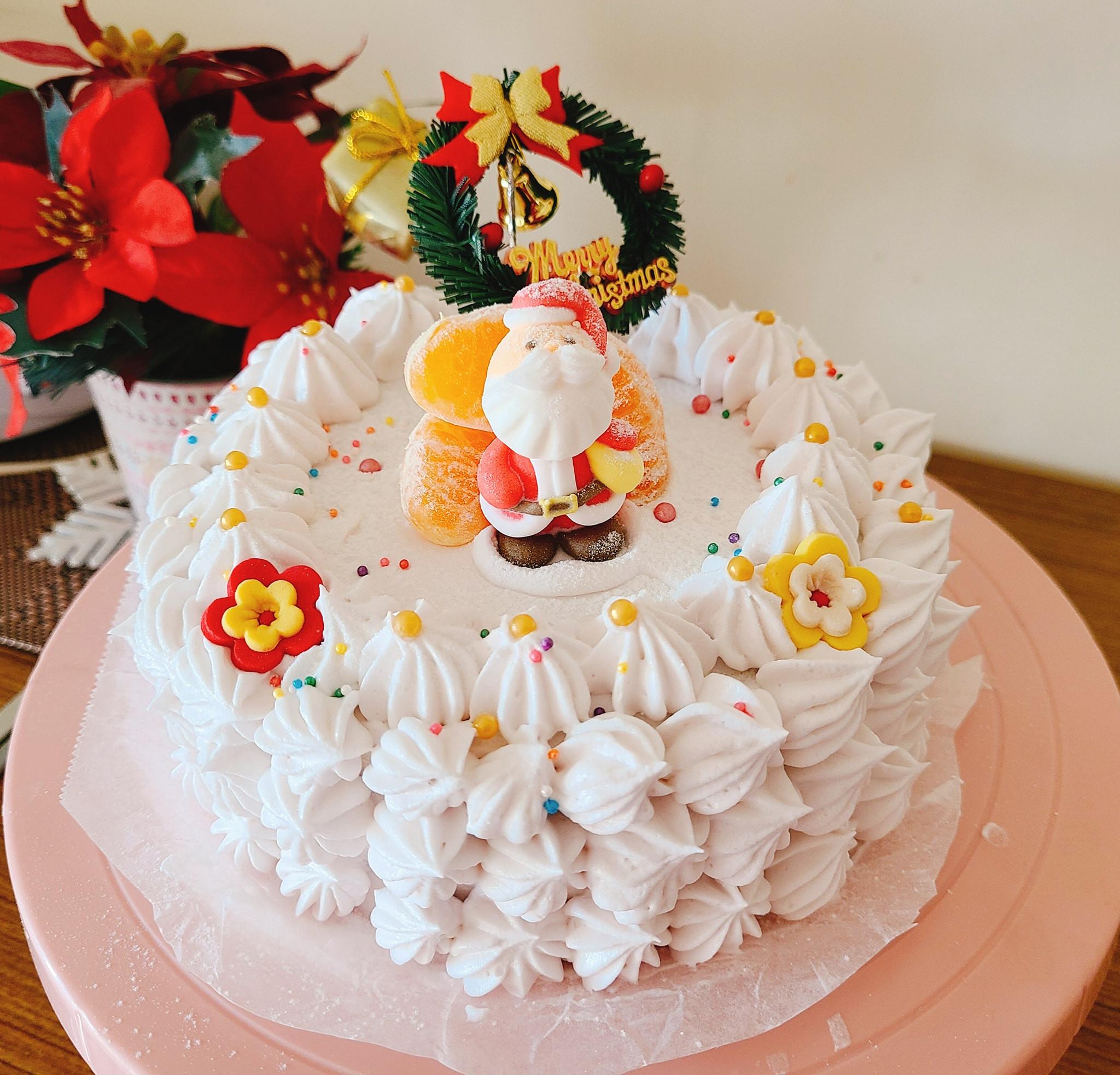 聖誕芋泥蛋糕(電鍋版)