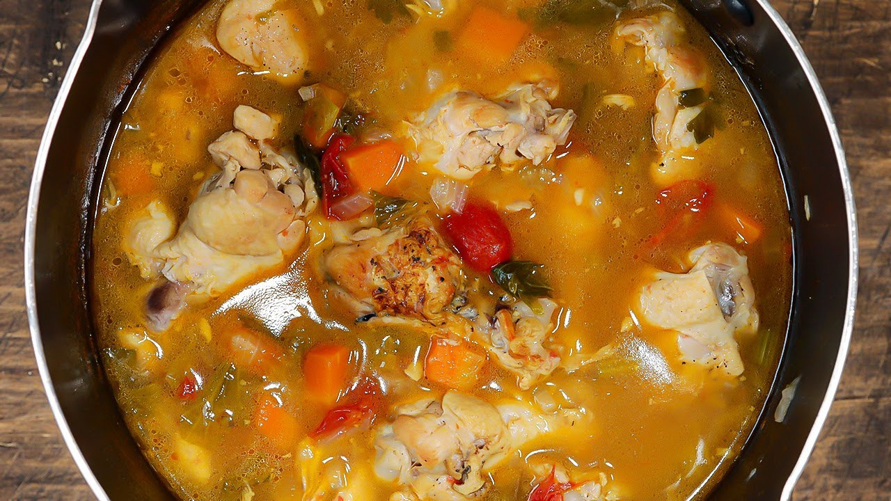 雞肉大蒜蔬菜湯|冬日料理|