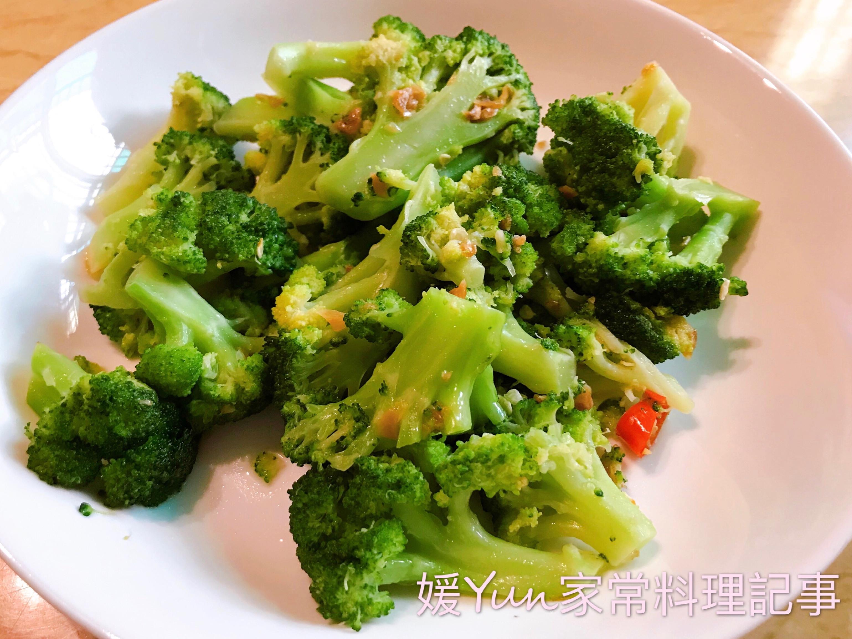 。蒜辣青花菜。