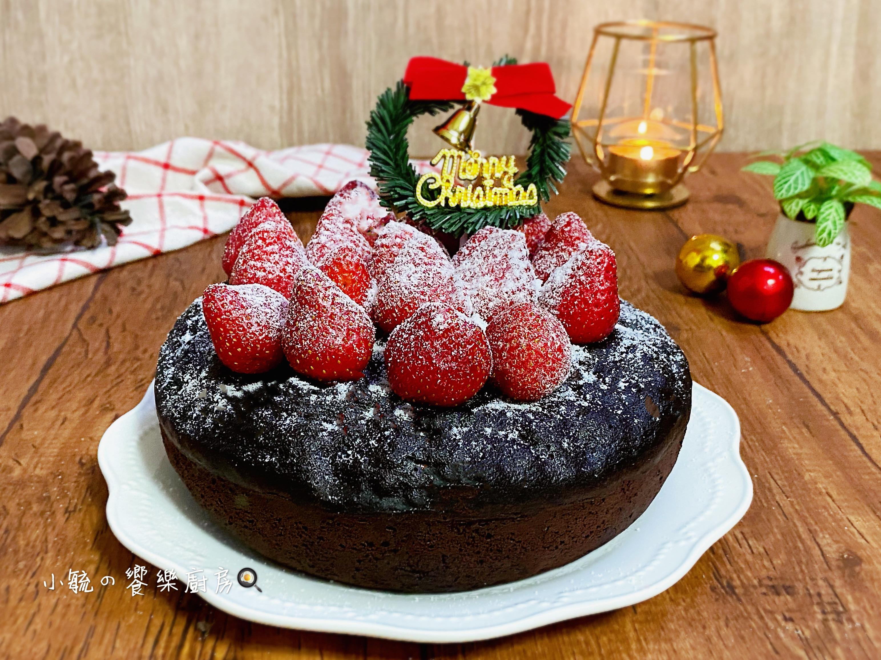 🎄聖誕草莓香蕉布朗尼