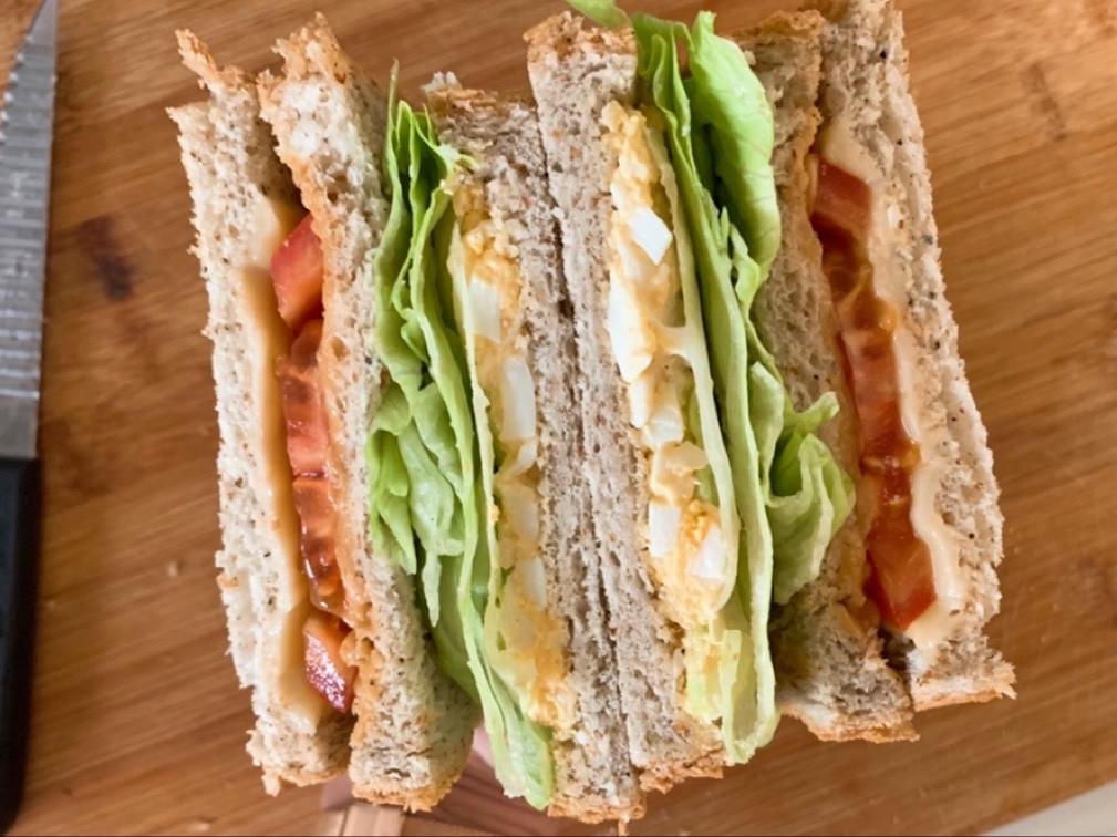 蛋沙拉蔬食三明治