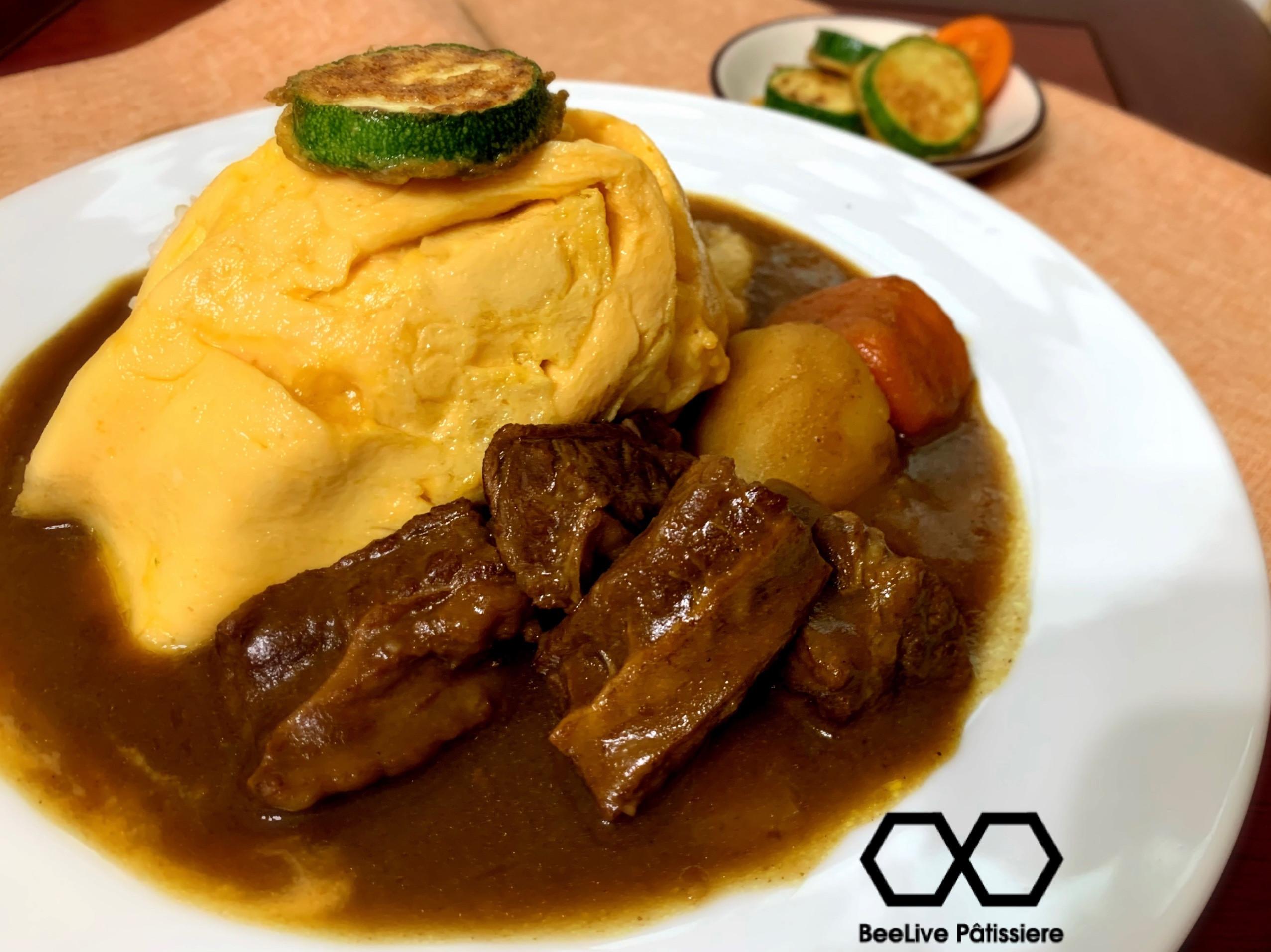 櫛瓜牛肉咖喱飯