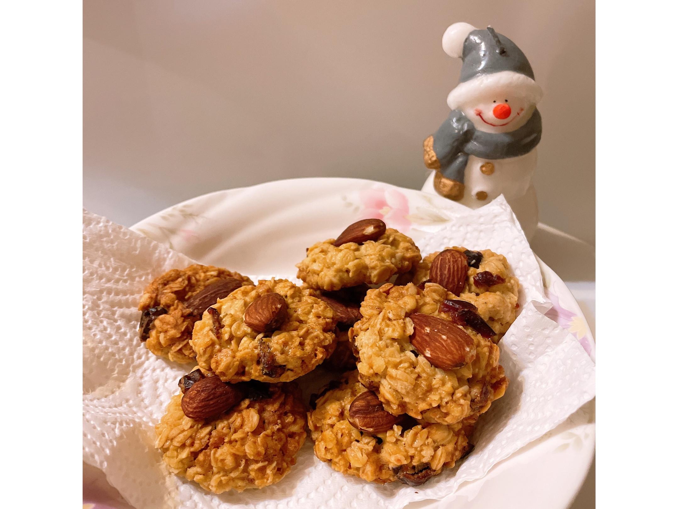 極簡易的健康燕麥蔓越莓餅乾🍪
