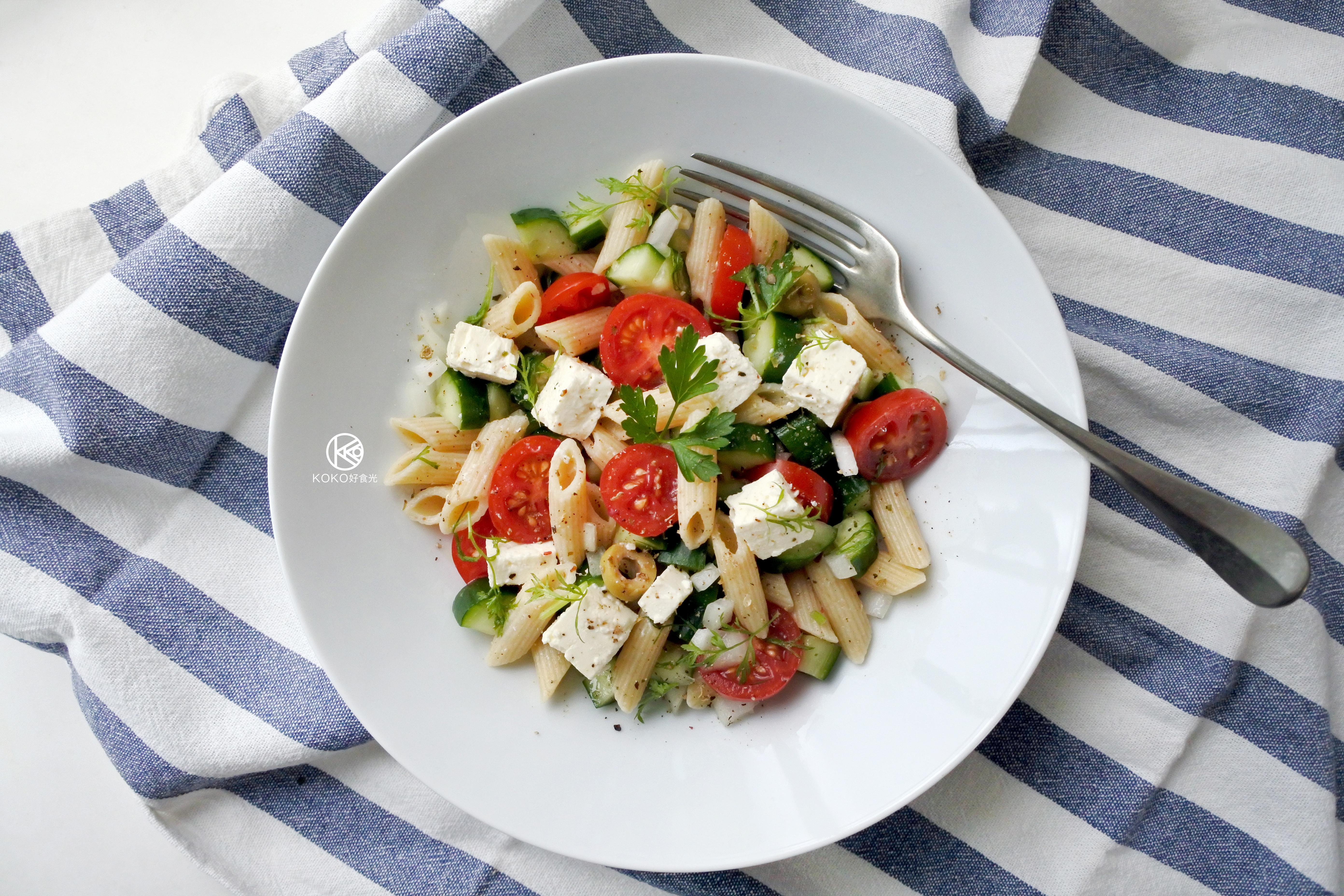 地中海沙拉義大利麵
