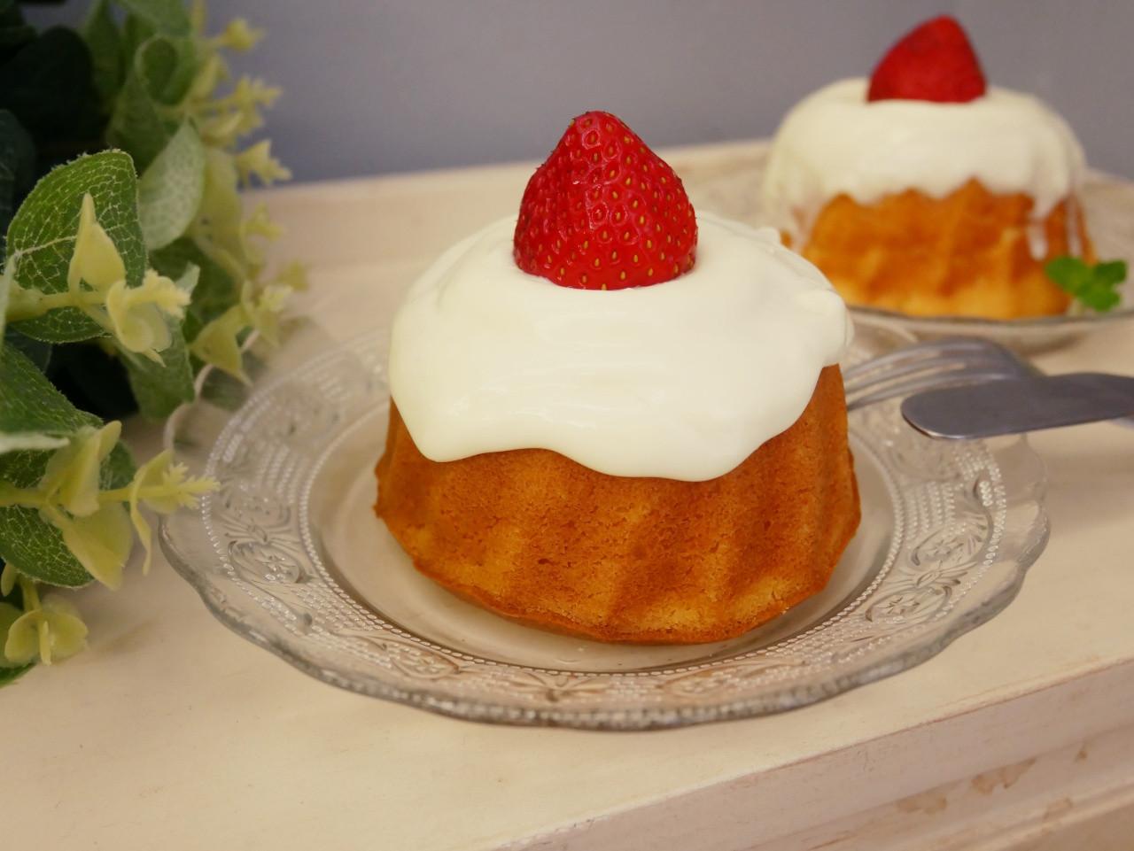 鬆餅粉「草莓奶油蛋糕」可愛又可口的小甜點