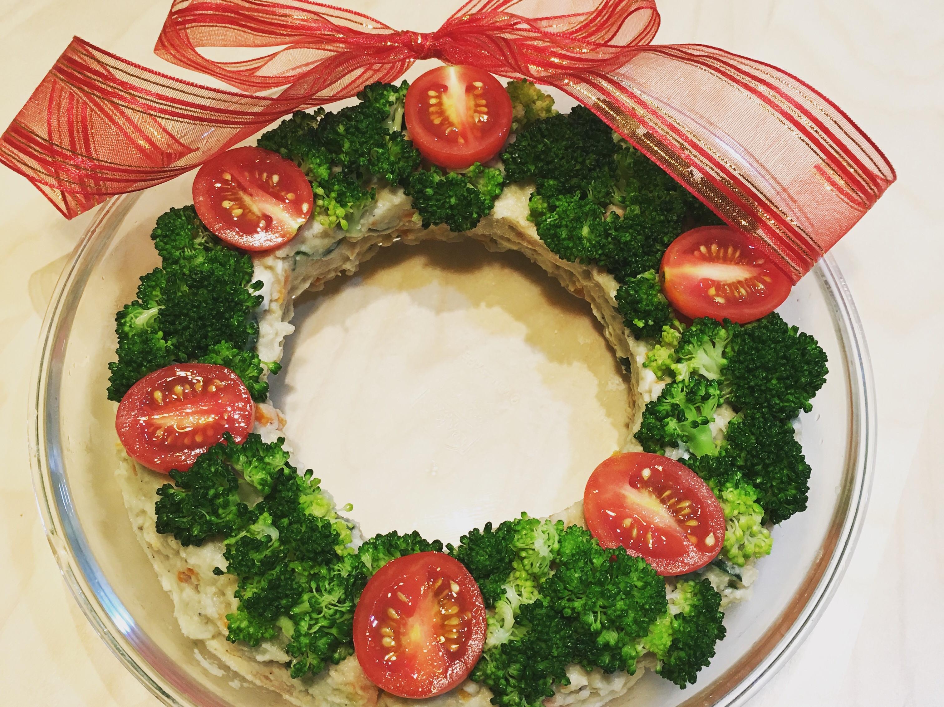 聖誕花圈馬鈴薯沙拉
