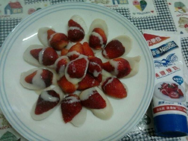 《草莓就愛鷹牌煉奶》草莓煉奶杏鮑菇