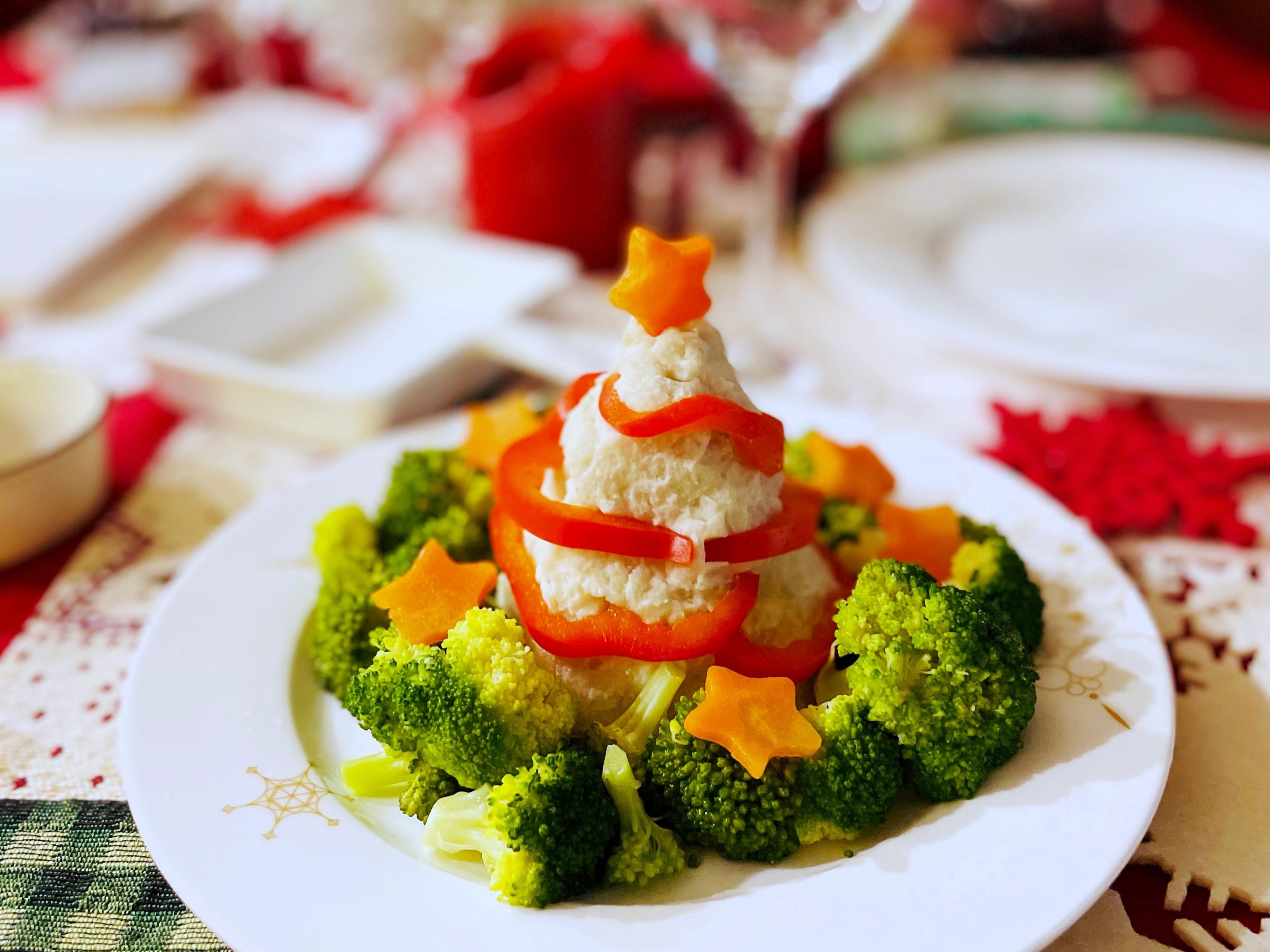 【聖誕節】馬鈴薯沙拉聖誕樹