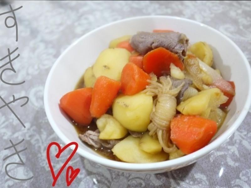 [壽喜燒風味]馬鈴薯燉肉
