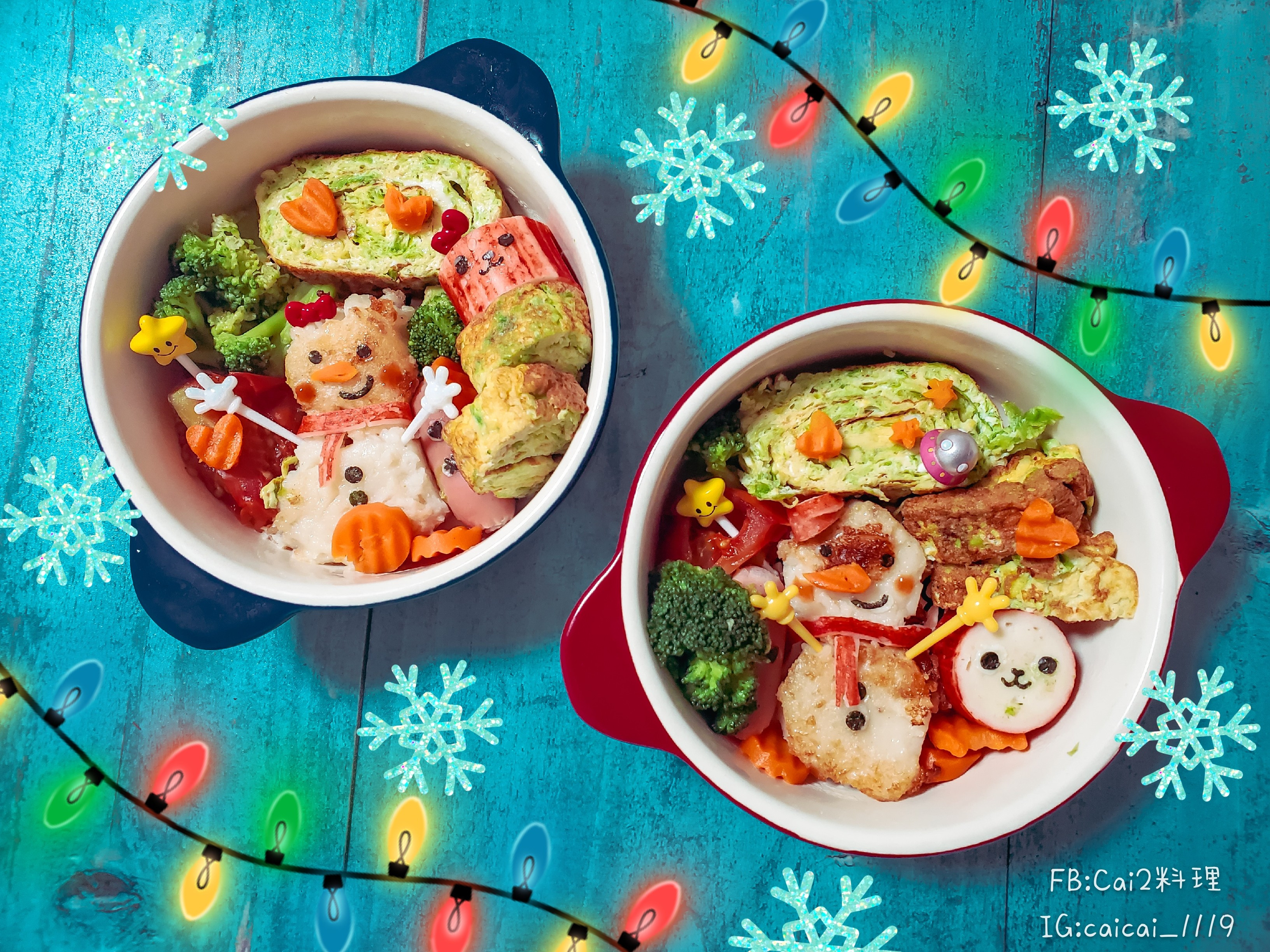 聖誕節雪人兒童餐