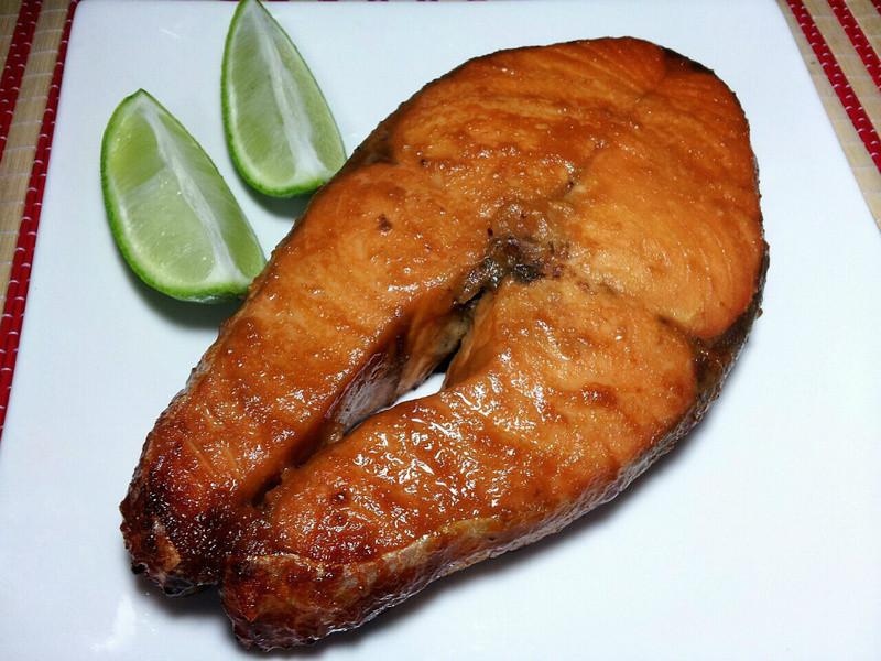 蜂蜜味噌烤鮭魚