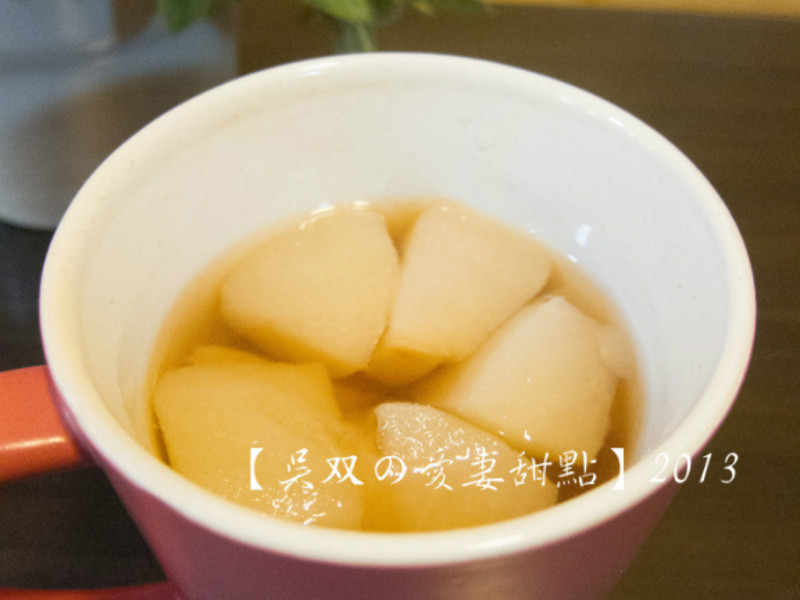 【吳双の愛妻甜點】美顏潤喉的蜂蜜燉水梨