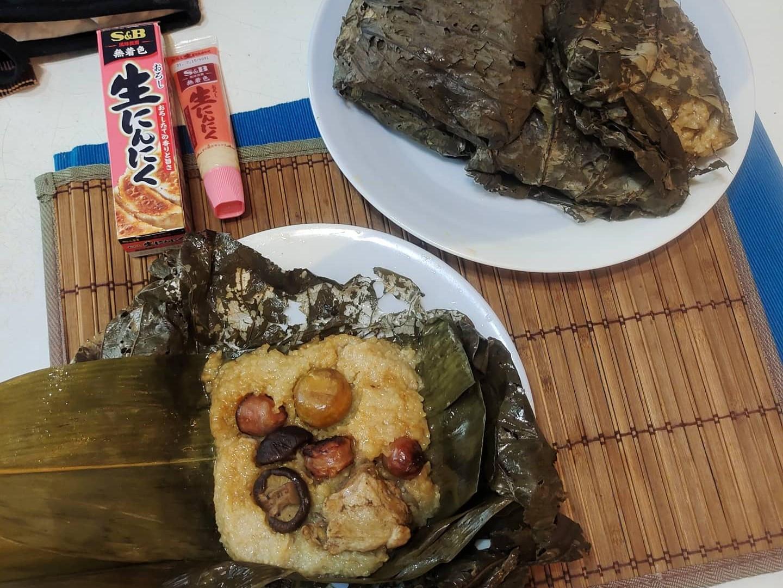 S&B生蒜泥醬~~港式荷葉雞肉粽