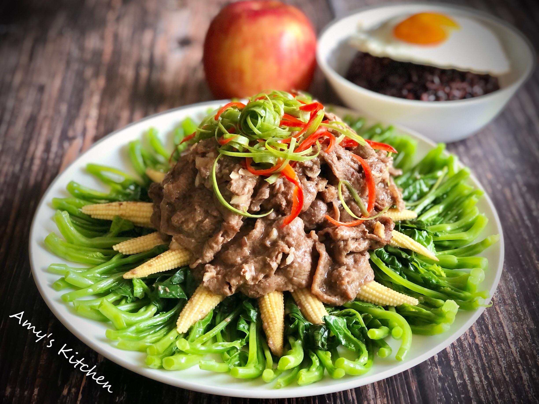 芥藍牛肉  [年菜](擺盤圖解)