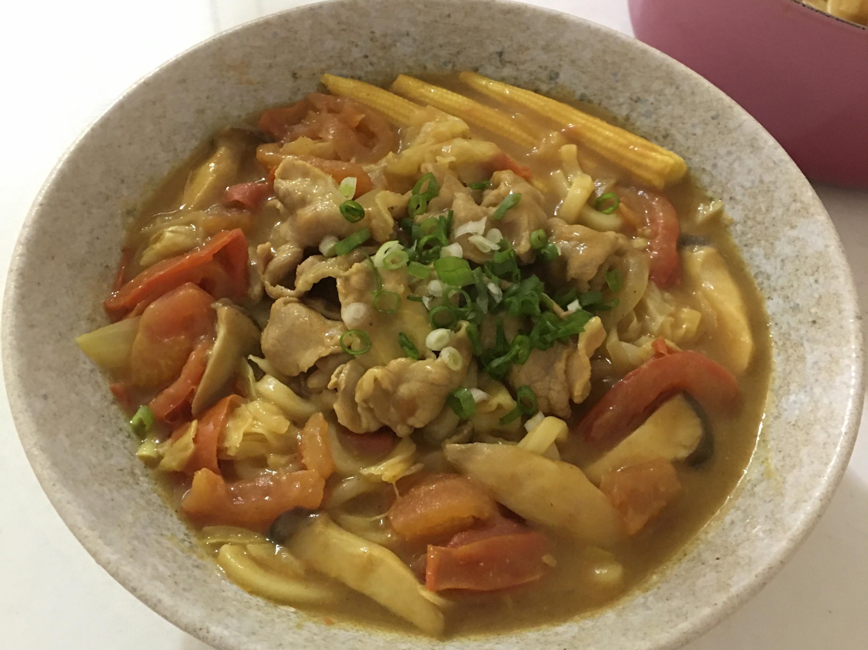 番茄咖喱烏龍麵