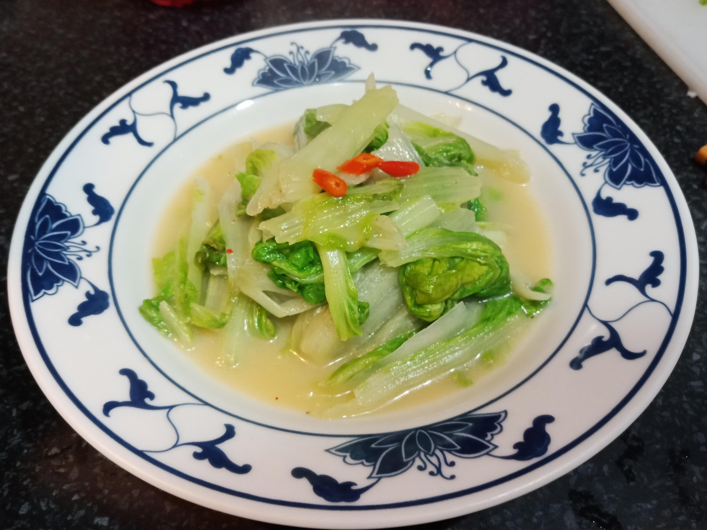 【緊張的】豆腐乳辣炒小白菜