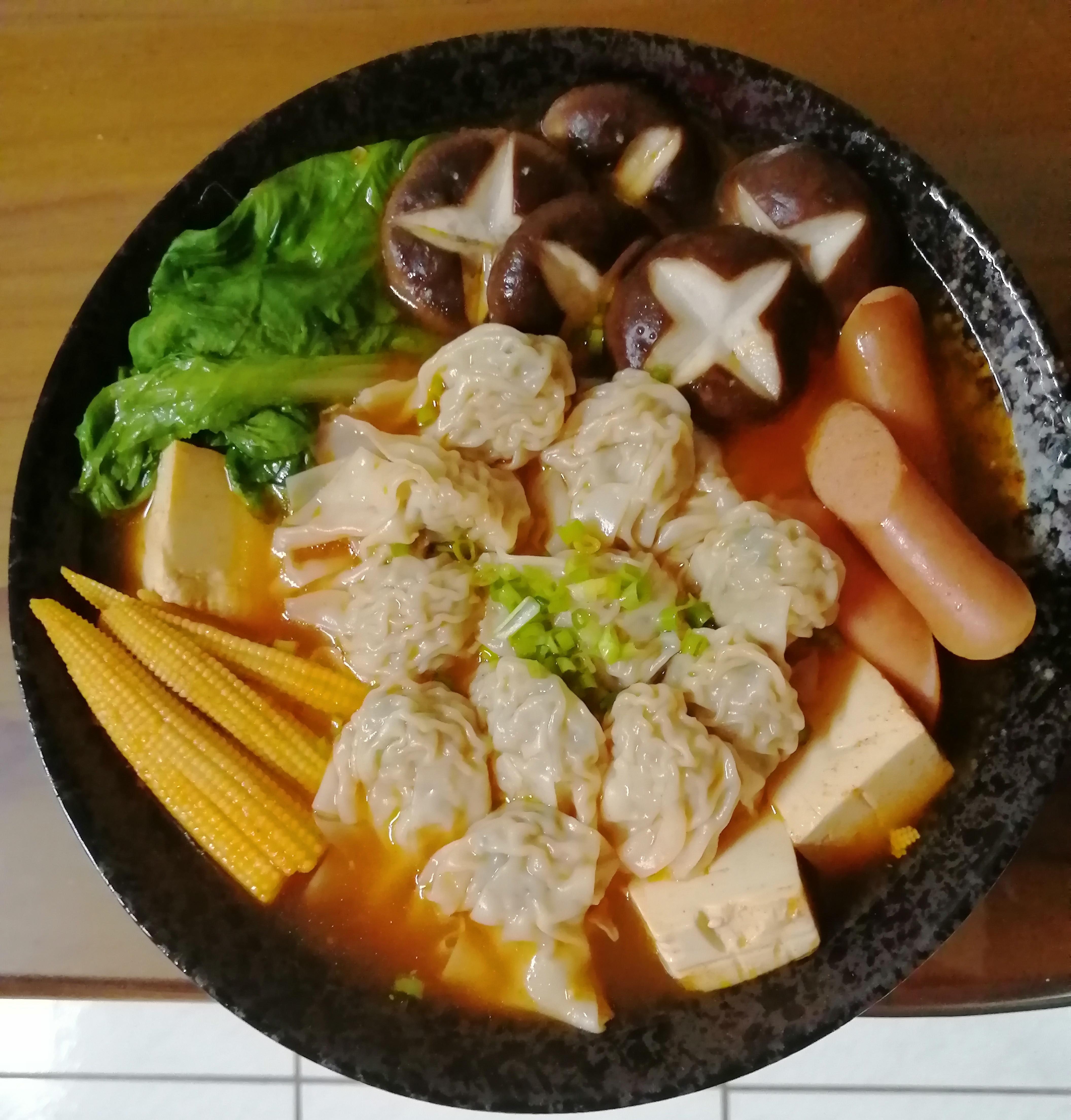 韓式泡菜湯餛飩(善用全聯火鍋鍋底包)