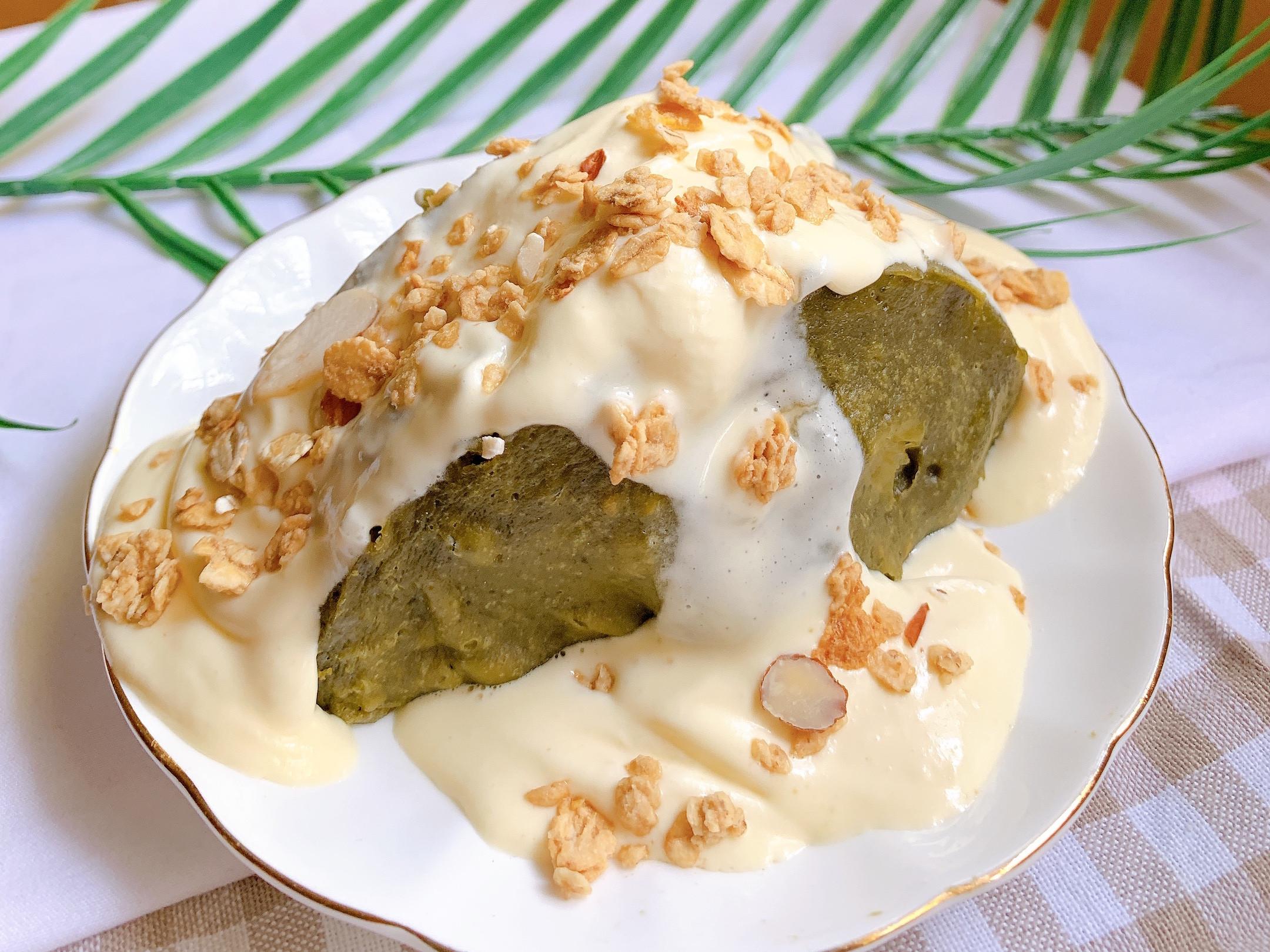 高蛋白抹茶香蕉蛋糕(微波爐版)