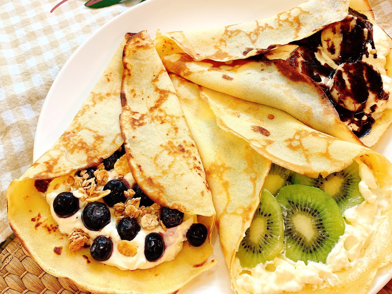 高蛋白法式水果薄餅(無糖