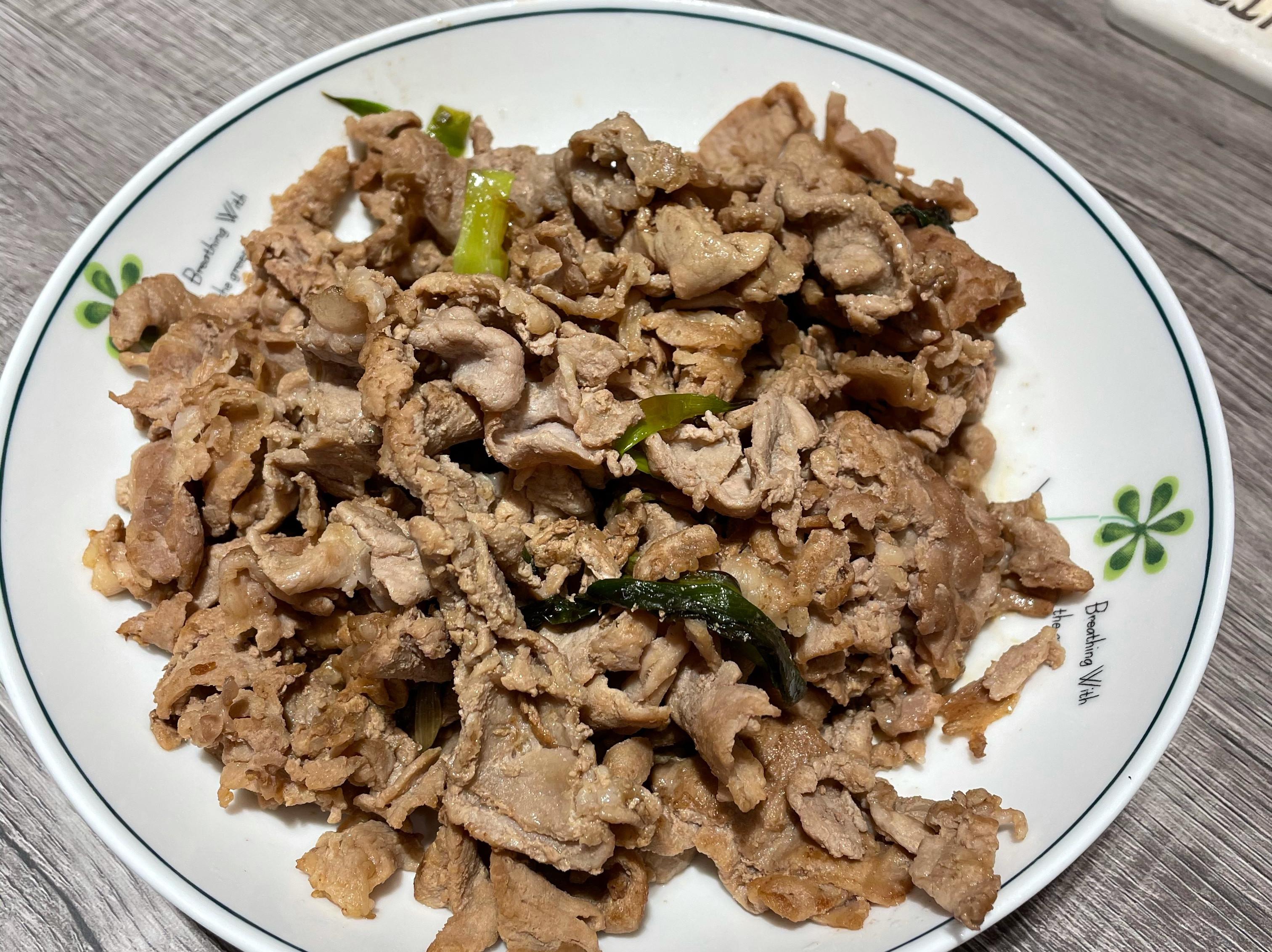蔥爆梅花豬肉片