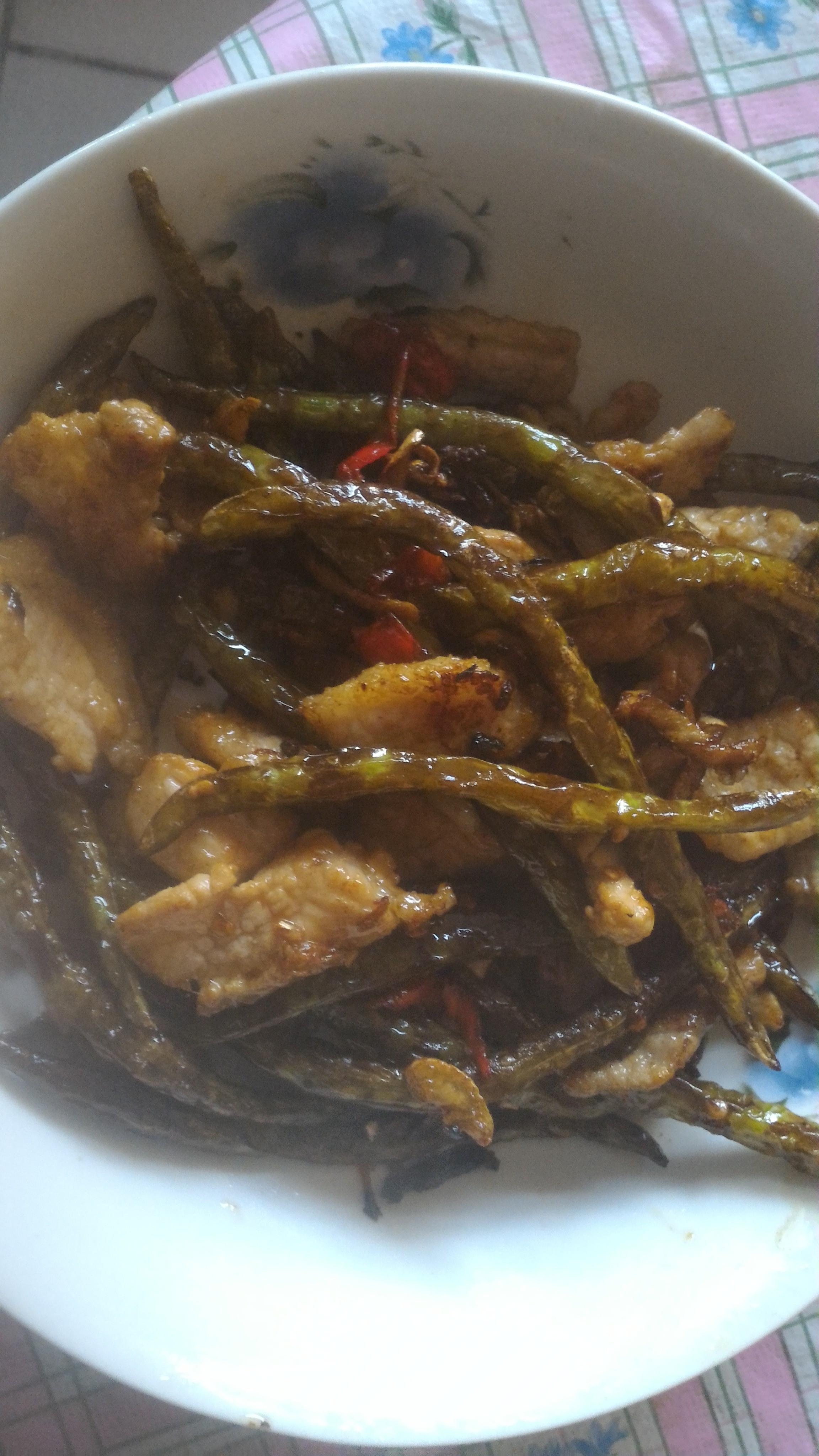 乾煸四季豆炒肉